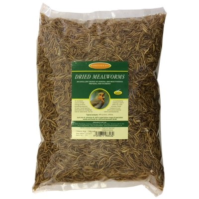 & J Dried Mealworms 12 kg box