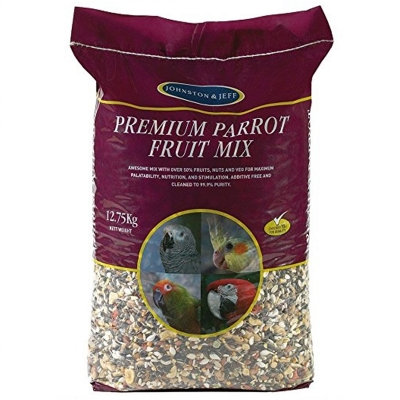 J & J Premium Parrot Fruit Mix 12.75 kg