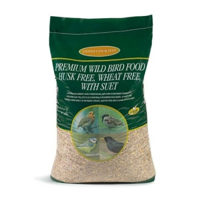 Johnston & Jeff Wild Bird Food - Premium – Husk free, wheat free & suet